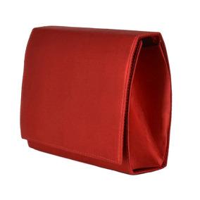 Bolsa Vermelha Clutch De Mão Pequena Festa Balada Cetim 1330