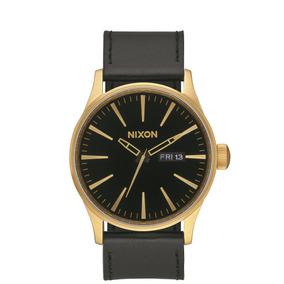 Reloj Sentry Cuero Dorado Nixon