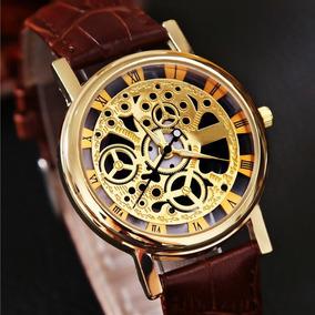 Reloj Hombre De Pila Esqueleto Mecanico Moda Caballero A685