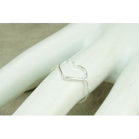 Anel Coração Forma Geometrica (a00025) Prata 925