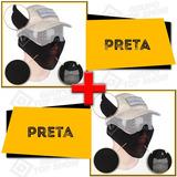 be1ccbcb09c5d 2 Mascara Airsoft Meia Face Metal Proteção Preta Cb