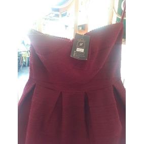 Vestido Elegante Pero Casual,color Vino, Corto, Nuevo