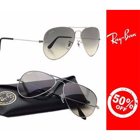 Ray Ban Aviador Cromado Prata - Óculos no Mercado Livre Brasil 7aa0524e76