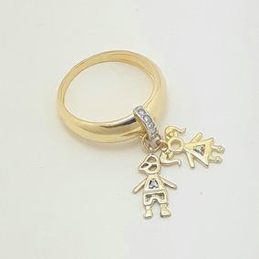 7932fa47f89a8 Anel Com Pingentes de Ouro no Mercado Livre Brasil