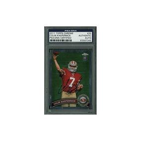 49ers Colin Kaepernick Tarjeta Autografiada 2011 Topps Chrom 08b45af947c34