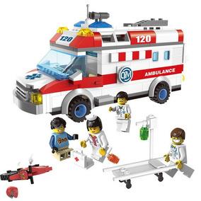 Ambulância Médico Pronto Socorro Blocos De Montar Lego Comp