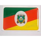 Adesivo Bandeira Rio Grande Do Sul Resinado 4x6cm Bd5