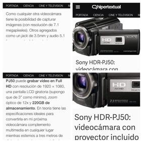 Videocamara Sony Hdr Pj-50