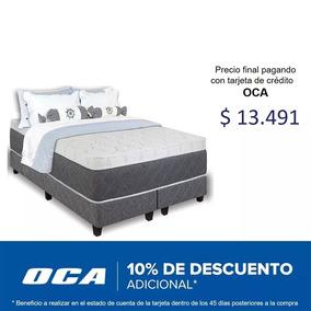Sommier Somier Queen Resorte Pocket Espuma Viscoelastica