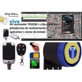 Kit Rastreador Tk303+chip+m2m+plataforma+app+escuta Telef