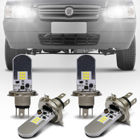 Kit Lâmpadas Led Fiat Uno H4 6500k 12v Farol Alto E Baixo