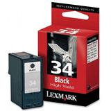 Cartucho Lexmark Ink Jet Negro Alto Rend Nro 34