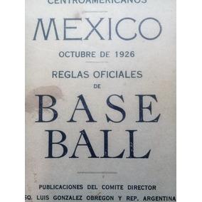 Reglamento Antiguo De Beisbol 1926- Antiguos-1926-mlb-