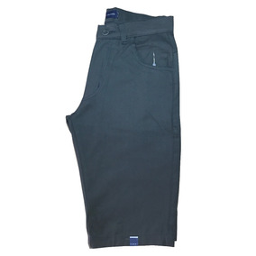 Bermuda Short Jeans Sarja Masculina Beje Vinho Marrom Azul