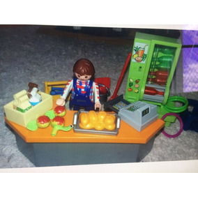Playmobil Cantina Maquina De Suco Lanchonete Comida