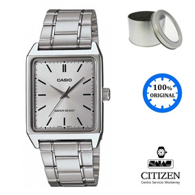Reloj Casio Mtpv007 Hombre Blanca Cuadrado