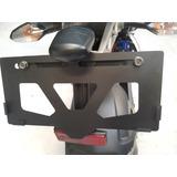 Porta Placa Para Moto Urusparts Universal Acero Inoxid