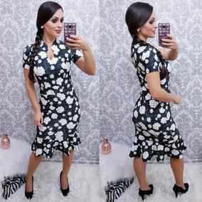 Vestido Midi Estampado Godê - Tendencia Evangelica Feminina
