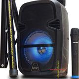 Bafle Potenciado Recargable Niatec 8 Pulgadas Con Bluetooth