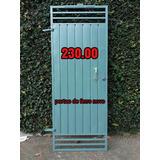 Portão Novo De Ferro Galvanizado Medida 80 X 2.00 De Altura