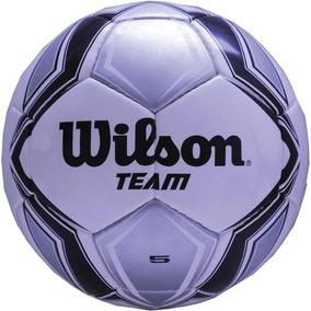 fd9b313d5 Bola De Futebol De Campo Team New N.5 Prata preta Wilson