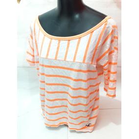 9e4f005e1d Blusa 3 4 Feminina Hollister - Camisetas e Blusas no Mercado Livre ...