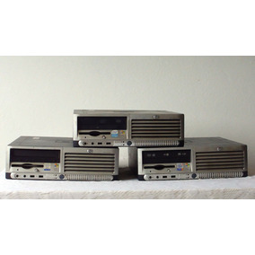 03 Computadores Originais Hp, Hd 40 Gb E 512 Mb Ram