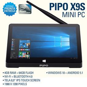 Pipo X9s Mini Pc - Tela 8.9 - 4gb+64gb - Windows10 + Android 09668f82684b9