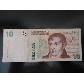 Nota Cédula Estrangeira 10 Dez Diez Pesos Argentina