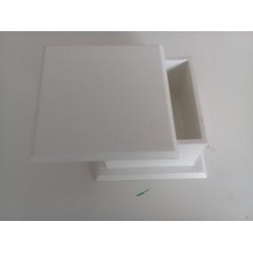 30 Caixas Pintada Com Tinta Acrílica Branca 7 X 5 X 7 Cm