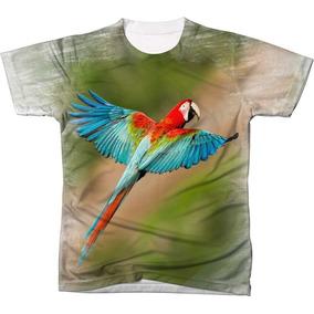 Camisa Camiseta Blusa Ave Passaro Arara Vermelha Brasil 2 8669ba6b88552