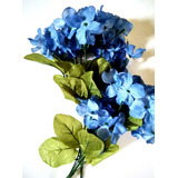 Paq 3 Ramo Hortensias.flores Hortensias Azul. Flores Decora.