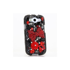 Samsung Galaxy S4 I9500 Luxury Bling En 3d - Gorgeous Red Bo