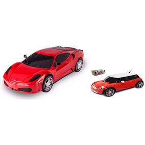 Kit 2 Carros De Brinquedo Corrida Esportivos Escala 1:18