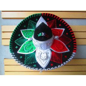 Sombrero Charro Tricolor Mariachi Adulto Hat Fiesta Mexicano cc4e46a0a36
