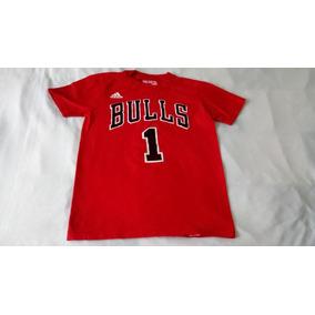 Playera Algodon adidas Nba Chicago Bulls Infantil Rose Toros c068a80526f