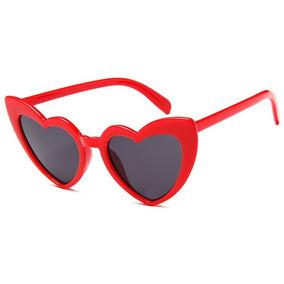 Óculos De Sol Formato De Coração Vermelho Lolita - Óculos no Mercado ... f06057fc22