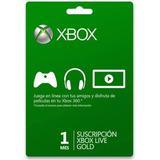 Membresía 1 Mes Live Gold Xbox One Y 360 Entrega Inmediata