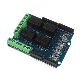 Modulo Shield Com Relé 4 Cana Com Relé 4 Canais Para Arduino