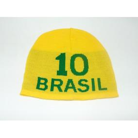 1b1a8f01a9b23 Touca Gorro Em Lã Adulto Verde Amarela Brasil Copa Nr 10
