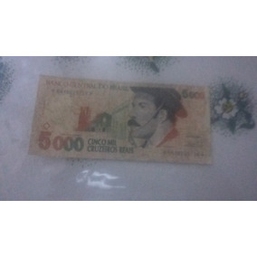 1 Cédula De 5.000 Cruzeiros Reais