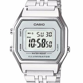 a53b2fda1ba Cinza Relogio Casio La680wa 7df Dourado C - Relógios no Mercado ...