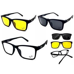 82bc34685 Oculos Clip On Magnetico Ray Ban Grau - Óculos no Mercado Livre Brasil