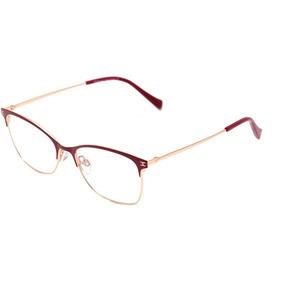Hickmann Hi 1076 - Óculos De Grau 07a Vermelho E Dourado Bri 0a903693a6
