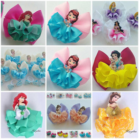 Moños Princesas Disney 3 Pzs Niñas Lazos Para Cabello