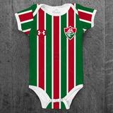 Body Fluminense Infantil Futebol Personalizado C  Nome Bebê bd7d8093a981f