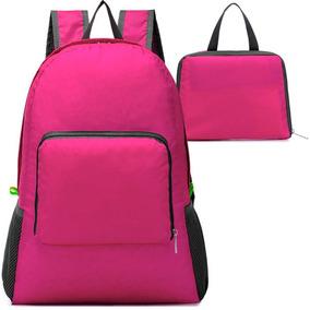 Mochila Plegable Impermeable De Viaje Rosa M2980
