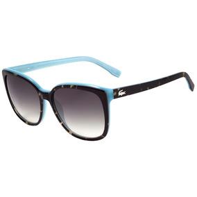 Lacoste L 747 S - Óculos De Sol 215 Marrom Mesclado E Azul B 4c14213eb3