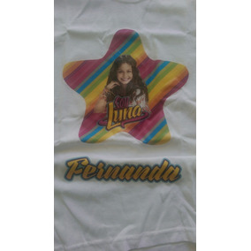 Playera Soy Luna Personalizada Con Tu Nombre Envio Gratis
