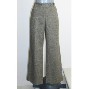 Ann Taylor Pantalon Ejecutivo Talla 4 Lana /poliester